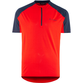VAUDE SE Me Maro Half-Zip T-Shirt Men mars red